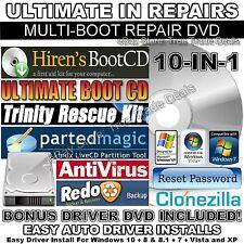 10-in-1 Hiren's 15.2 DVD PC Repair + Windows Password Reset + Windows Drivers