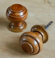 Wooden Backplate Backing Plate Knob Rose Handle Wood Backplate x1 60mm //26mm