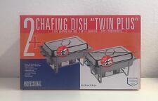 2x Chafing Dish Twin Plus Wärmebehälter + 4 Servierlöffel