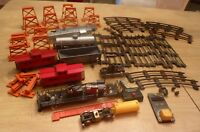 Vintage 1950's American Flyer Train Lot Metal Cars Uncoupler Tracks and More OBO