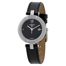 NWT Ladies Tissot T-Trend Pinky T0842101605700 Black Dial Leather Strap Watch
