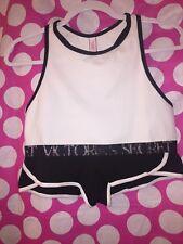 Victorias Secret High Neck Bralette & Shortie Set Black and White NIB GIFT SET