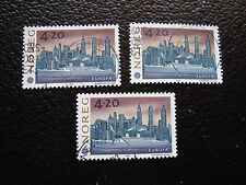 NORVEGE - timbre yvert et tellier n° 1054 x3 obl (A04) stamp norway (U)