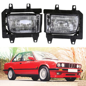 2x Front Bumper Fog Light Lamp Clear Lens For BMW E30 318i 325iX 325is 1982-1991