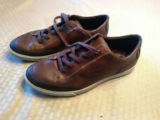 Mens ECCO Since 1963 Men's Brown Leather Sneakers Size 41 EUR US 7-7.5