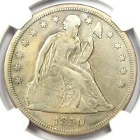 1850-O Seated Liberty Silver Dollar $1 - NGC VF Details - Rare Date Coin!