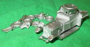 Rolls Royce Armoured Car 1/76th scale 20mm white metal kit unbuilt