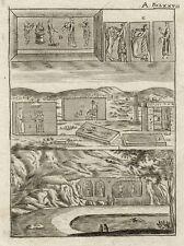 Iran Persien Ethnologie Schrift Original Kupferstich Mallet 1719