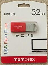 Memorex USB Flash Drive - Red - 32 GB - USB 2.0