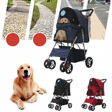 Hot Pet Stroller Dog Cat Puppy Pushchair Pram Jogger Cart Buggy Folding Carrier