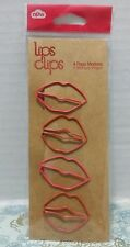 Lips Clips Page Marker Paperclip Metal Novelty Party School Supply Student Class