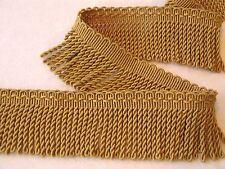 "4 YARDS of Beautiful 3"" Gold Bullion Fringe Trim ~ Upholstery Pillows Crafts"