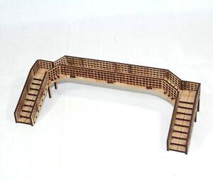 Triple Track Foot Bridge Model Railway 00 Gauge  MDF Assembled 1:76 scale