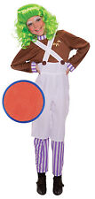Oompa Loompa Charlie Chocolate Factory Worker Fancy Dress Costume + Face Paint
