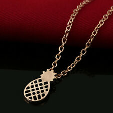 Gold Silver Chain Pineapple Pendant Necklace Women's Jewelry Fruit Gifts Charm