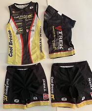 Sugoi Tri Triathlon Womans Top Jersey,2 Tri Shorts 1 Cycling Shorts 4pcs Small