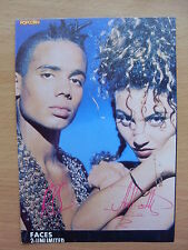 2 UNLIMITED - Faces - Lyric Card + Autographs
