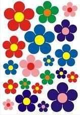Blumen Set 20 Stück Blümchen Aufkleber Deko Folie Sticker Nr. 7756