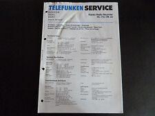 Schaltbild  Service Informationen Telefunken  Stereo Radio Rec. RC 710 / RK 50
