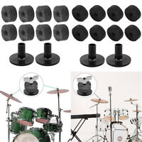 Drum Accessories Set 8pcs Felt Washer + 2pcs Cymbal Sleeves Replacement Parts
