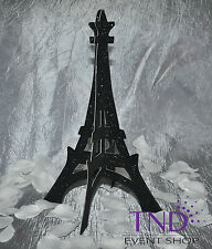 4-PACK 3D GLITTER EIFFEL TOWER STAND SCULPTURE PARIS FRENCH THEMED DECORATION