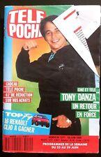Télé Poche 18/6/1990; Tony Danza/ Eve-Marie Cauchois/ Stephen Collins/ Mano Negr