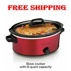 Large Capacity Crock Pot Slow Cooker Oval Manual 6 Quart photo