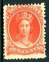 Canada 1860 Nova Scotia 10¢ Queen Victoria Yellow Paper Sc 12a Mint  R77
