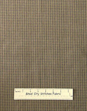 Homespun Primitive Colonial Check H202 Dk Gold Cotton Fabric Dunroven House YARD