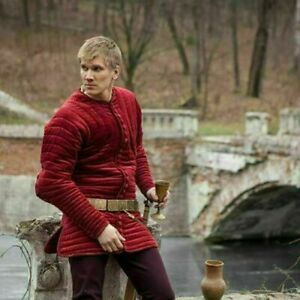 RED Color Jacket Renaissance Gambeson For Armor Reproductions