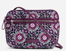 BRAND NEW Vera Bradley Iconic RFID Little Crossbody LILAC MEDALLION NWT MSRP $40