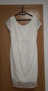 Mamarella Tiffany Rose Umstandskleid Brautkleid - Größe 42/4- Etuikleid