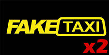 Fake Taxi 2x / Porn / Rude / vinyl  / Car / Van / Sticker - 21x4 cm