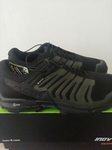 UK 11 Inov8 Roclite G 315 GTX Trail Running Mens Shoes Black Dark Green