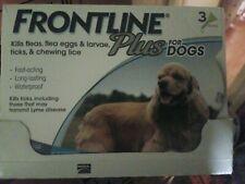 FRONTLINE Plus for Medium Dogs 23-44 lbs (3 Doses) Flea Tick Control (Sealed)