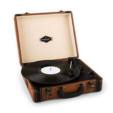 Turntable Player Vinyl Vintage Equipment Stereo Suitcase Retro USB -b-stock