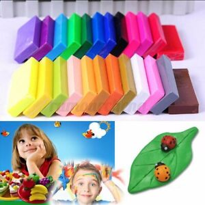 32 Color Oven Bake Polymer Clay Block Moulding Modelling Sculpey Tool Kids  NEW