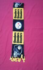 NFL PITTSBURGH STEELERS  FLEECE SCARF (block)  APPROX 60 X 6 UNISEX  HANDMADE