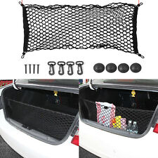 Universal Rear Luggage Cargo Trunk Storage Organizer Net Elastic plus Mounting