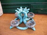 Bougeoir Quatuor d'escargots en Céramique Années 60 Signature à identifier