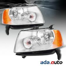 2005-2007 Ford Freestyle Left Right Side Headlights Lamps Pair