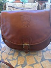 Massimo Dutti Crossbody Leather Bag Brown