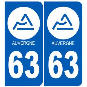 Sticker / autocollant : immatriculation 03 Auvergne du Puy de Dôme