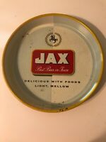"JAX BEER NEW ORLEANS, LOUISIANA - VINTAGE ORIGINAL 13"" ROUND METAL SERVING TRAY"