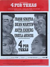 4 For Texas Frank Sinatra Dean Martin Anita Ekberg Sheet Music