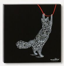 Playful Cat Wild About Words Pet Art Decor Wall Hanging Fun Whimsical New (7878)