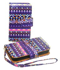 Stylish Tribal Wallet Leather Case for Samsung Galaxy Exhibit T599 - Kickstand