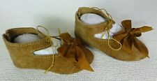 """95mm LEATHER SHOES  for ANTIQUE DOLL ,  """"Jumeau"""" Shoes , Doll Clothes"""