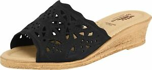 Spring Step Women's Estella Slide Sandal in Black