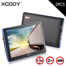 2x XGODY 8GB CAR TRUCK GPS SAT NAV NAVIGATION + WORLD MAPS + LIFETIME UPDATES